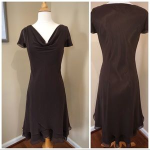 Short chiffon dress